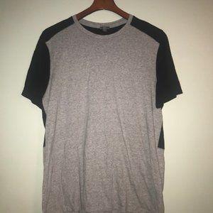 Vince - Gray&Black Two Tone T-Shirt Size